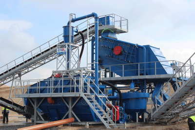 CAB mobile sand washing plant