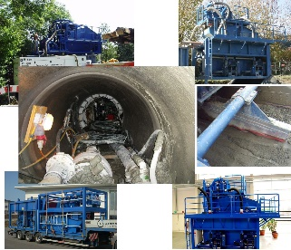 system for processing bentonite and excavated material