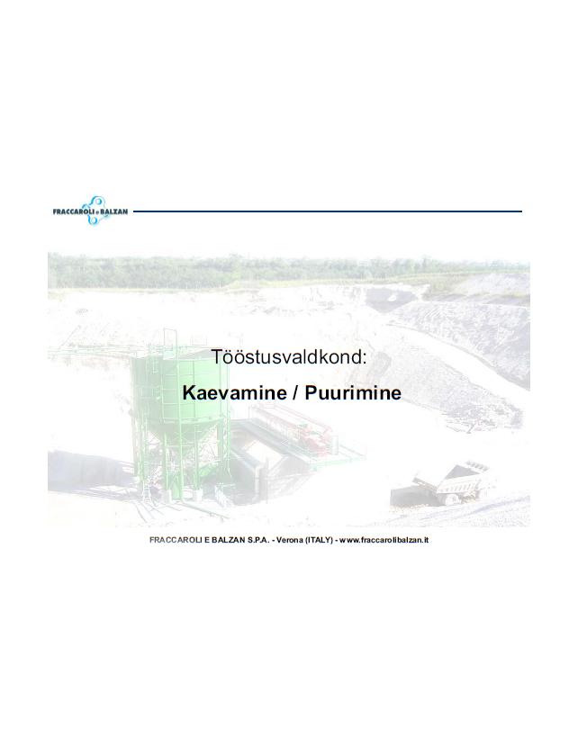 F&B info puurimise vee puhastus cover