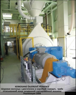Silica sand grinding ball mill