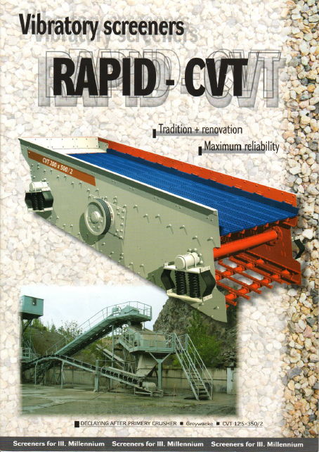 Vibratory screeners-RAPID-CVT_page 1 cover