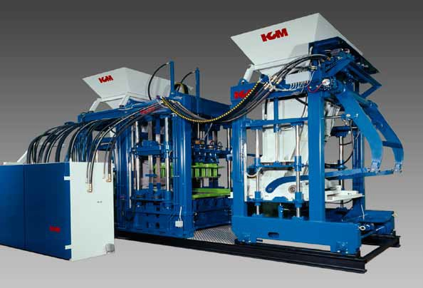KVM block machine and concrete equipment
